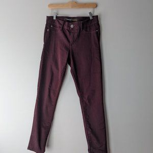 Jordache Stretch Denim Jegging Plum Purple Size 8